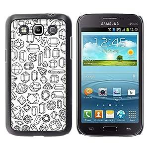 Exotic-Star ( Stones Art Diamond Ruby Emerald ) Fundas Cover Cubre Hard Case Cover para Samsung Galaxy Win / I8550 / I8552 / Grand Quattro
