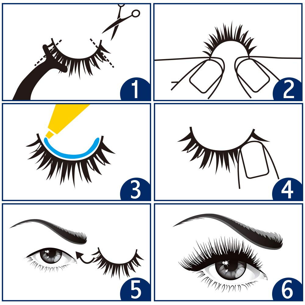 How to wear false eyelashes correctly - step by step guide