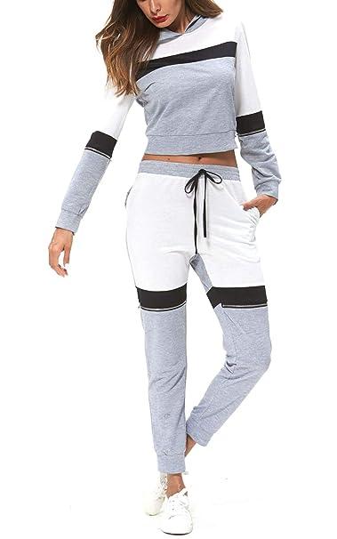 Winter Women Hoodie Sweatshirt Coat Pants Joggers Tracksuit Outfit Sport Sets