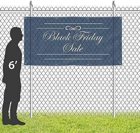 Basic Navy Wind-Resistant Outdoor Mesh Vinyl Banner 6x4 Yes We are Open CGSignLab