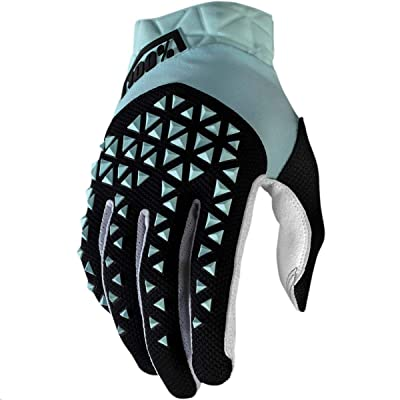 100% Airmatic Men's Off-Road Motorcycle Gloves - Blue/Black/Small: Automotive