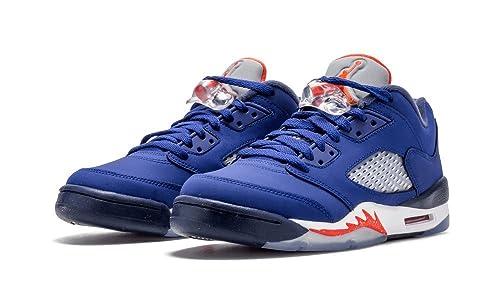 272163faa53 Nike Air Jordan 5 Retro Low GS Kids Basketball Shoes, Deep Royal Blue / Team