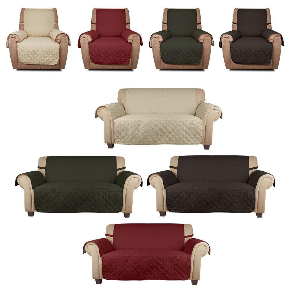 HDM soft touch 2 Posti 167x112 cm copridivano beige con fascia fissa, borsa da divano molto adatta per bambini e animali domestici, coprisella in cotone 100% PP Haus-deko Mart