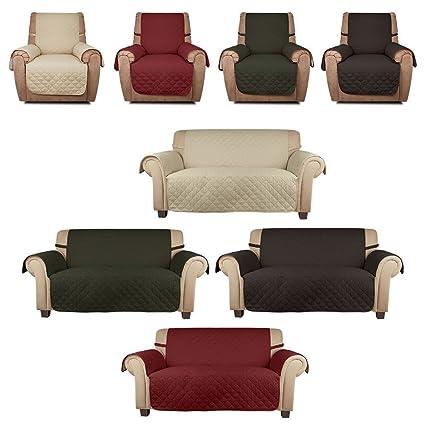 HDM Soft touch 2 plazas 167x112 cm marrón café Funda de sofá ...