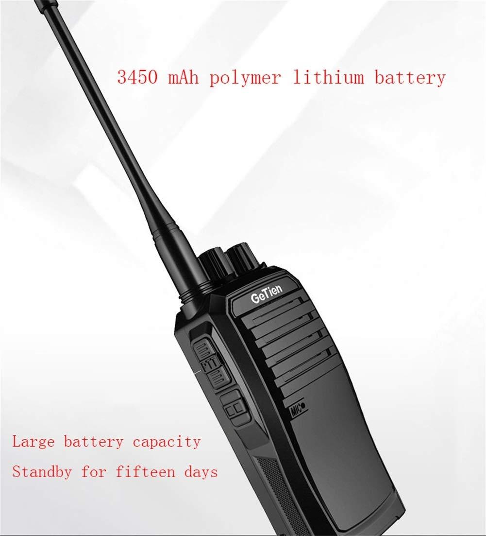 HDJ Talkie Walkie,15 Days Standby Profession Rechargeable Engineering Outdoor 15 Km Interphone (Black, 1 Pair) by HDJ (Image #3)