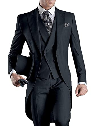 50fb19225db6 Mens 3 Piece Suit Slim Fit Charcoal Sale Party Tailcoat Tux Ball Tuxedo  Tailcoat for Teens