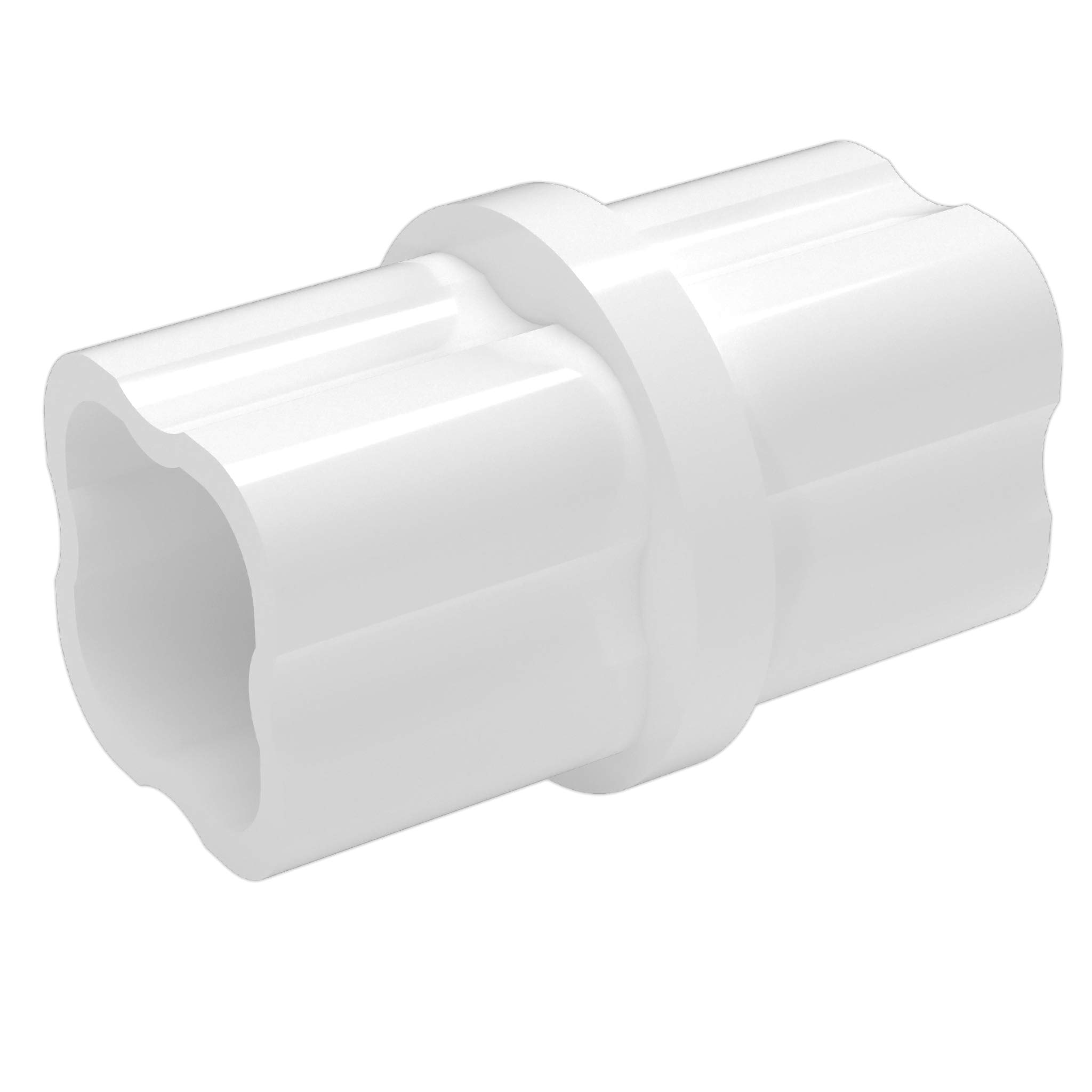 FORMUFIT F114ICO-WH-10 Internal PVC Coupling, Furniture Grade, 1-1/4'' Size, White (Pack of 10)