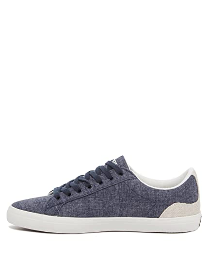 a698a708e Lacoste Lerond 218 1 Cam Navy Natural  Amazon.co.uk  Shoes   Bags