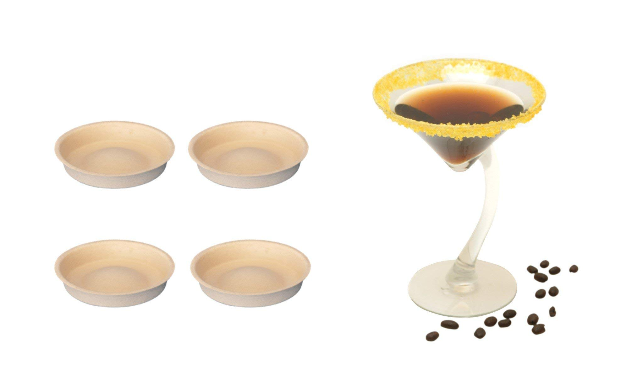Vanilla Flavored Cocktail Glass Rim Sugar - 4 Pack RoxiSpice Tower Cartridges by RoxiSpice