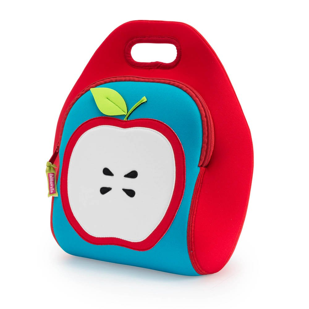 Dabbawalla Bags Apple of My Eye Kids' & Adults' Insulated Washable & Eco-Friendly Lunch Bag Tote Red/Blue