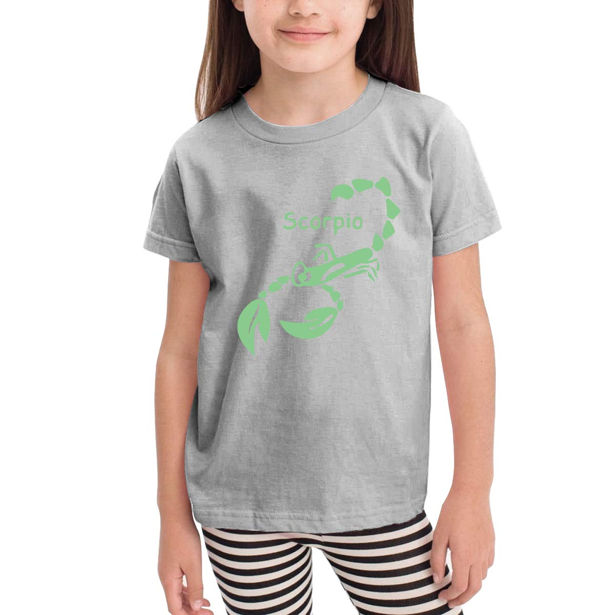 Kids T-Shirt Tops Black Symbols Scorpio Unisex Youths Short Sleeve T-Shirt