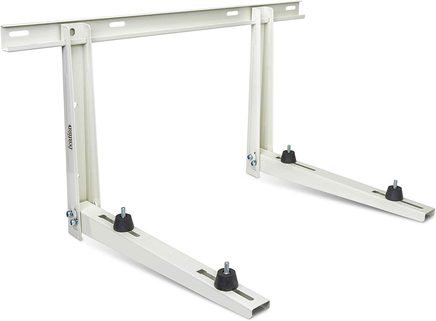 Ivation Outdoor Split Air Conditioner Mount Bracket, Heavy-Duty Wall Mounting Universal AC Bracket with Hardware for Ductless Mini Split Condenser Heat Pumps & HVAC Systems, Max 331 Lb. Capacity