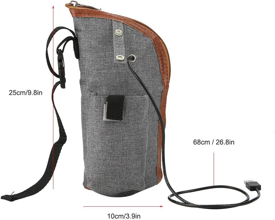 CLFYOU Appareil de Chauffage-Chauffe-biberon Portable Chauffe-biberon USB Chauffe-biberon de Voyage Tasse Chauffe-Lait Housse chauffante Sac de Rangement