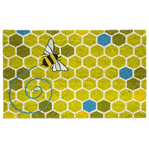 Entryways Honeycomb Non- Slip Coconut Fiber Doormat 17