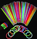 Vivii Glowsticks, 100 Light up Toys Glow Stick Bracelets Mixed Colors...