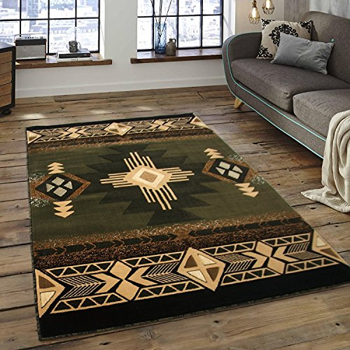 Southwest Native American Area Rug Sage Green (8 Feet X 10 Feet)
