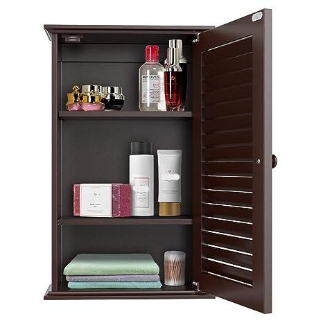 Amazon Com 3 Tier Shelf Wall Cabinet Mounted Bathroom