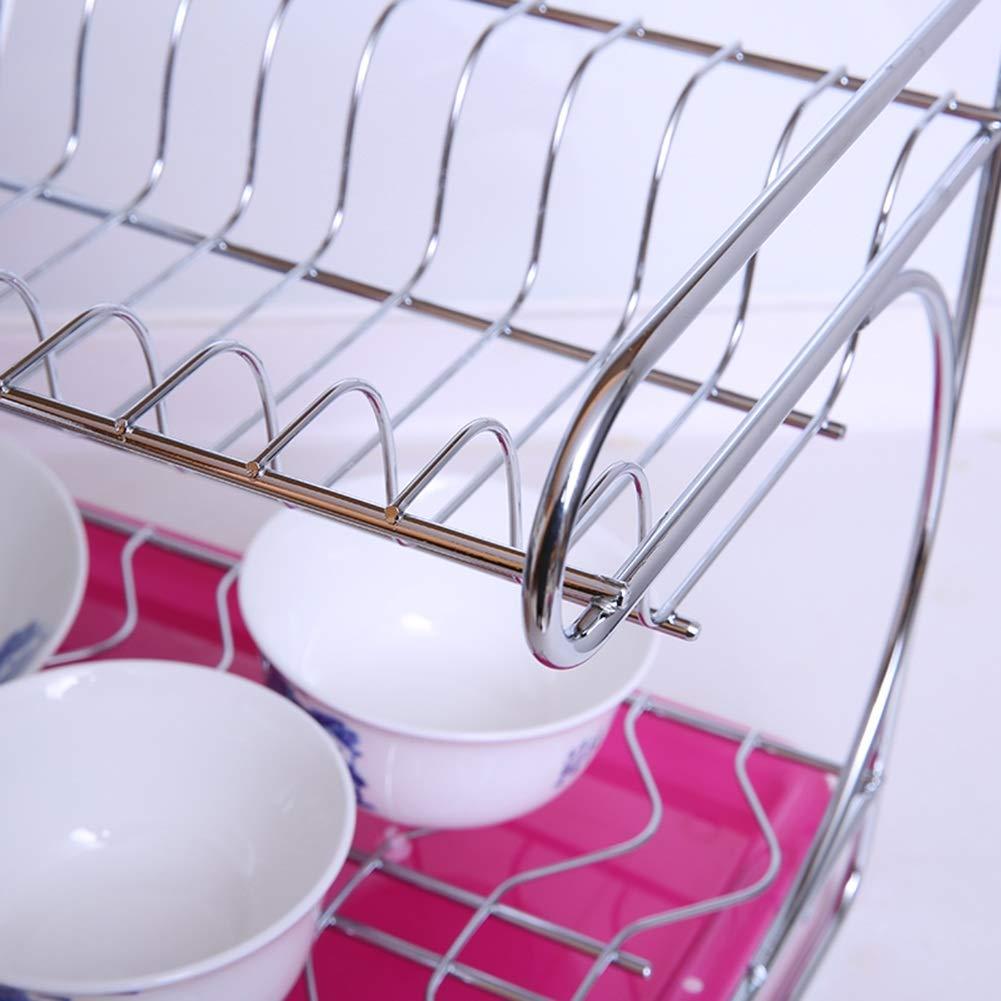 Shelf Storage Racks Pot Rack Storage Basket Shelf Baskets Cupboard Organizers Double Layer Dish Rack Kitchen Stainless Steel Storage Rack ZHAOYONGLI by ZHAOYONGLI-shounajia (Image #6)