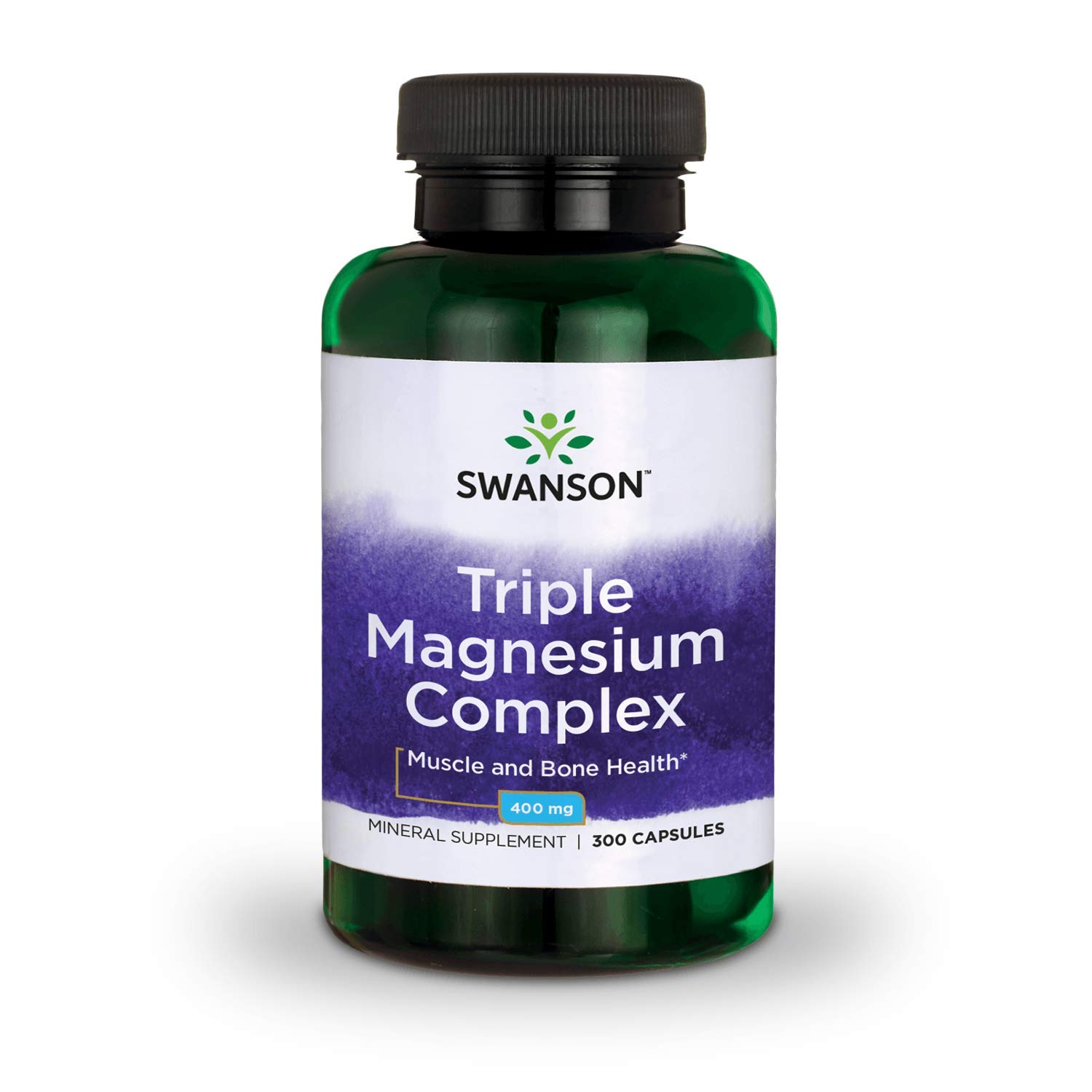 Swanson Triple Magnesium Complex Absorption Bone and Mood Health Citrate Oxide and Aspartate Combination Supplement 400