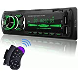 SjoyBring Bluetooth Car Stereo with Wireless SWC Remote and Phone Charging Port, Hands Free Calling, USB/TF Card/Aux-in/FM Ra