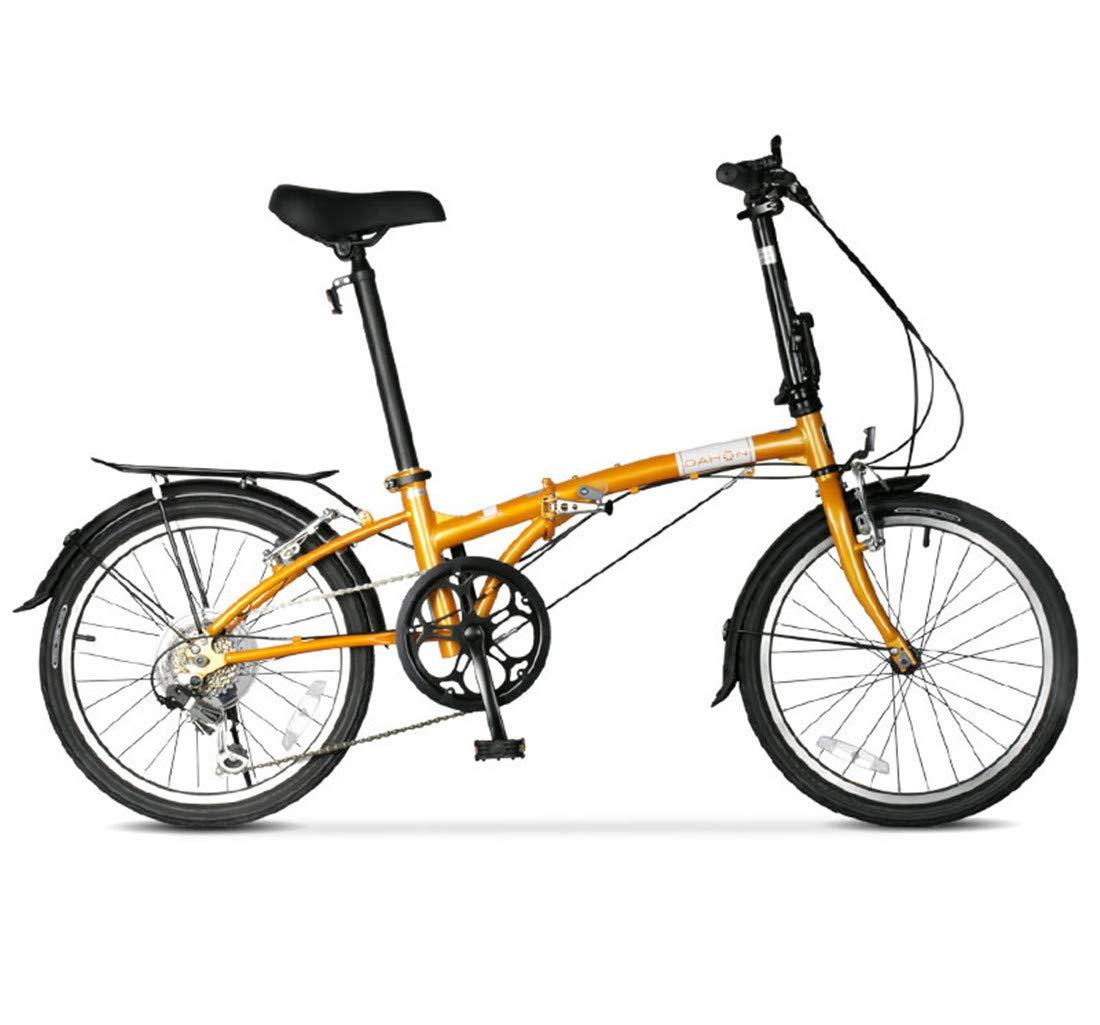 Citybike 20 Zoll 6-Gang Fahrrad klappen Rahmen aus Kohlenstoffstahl Für Unisex Erwachsener Mountainbike Gelb