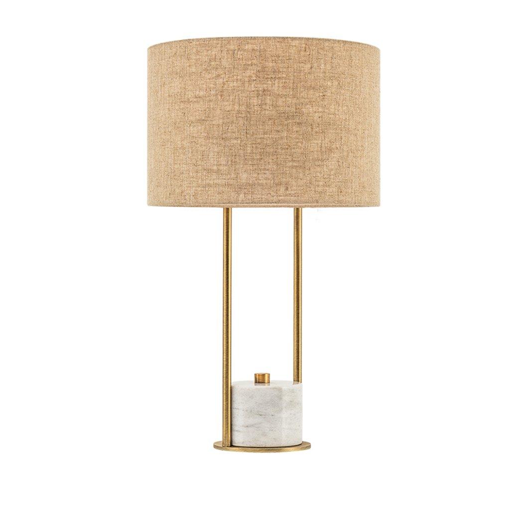 a la venta Freya Lámpara de mesa moderna simple simple simple de la tela creativa cálida lámpara de metal retro protección ojo aprendizaje Beige dormitorio amarillo sala de estar del  caliente el lámparas (Color : Beige)  ventas en linea