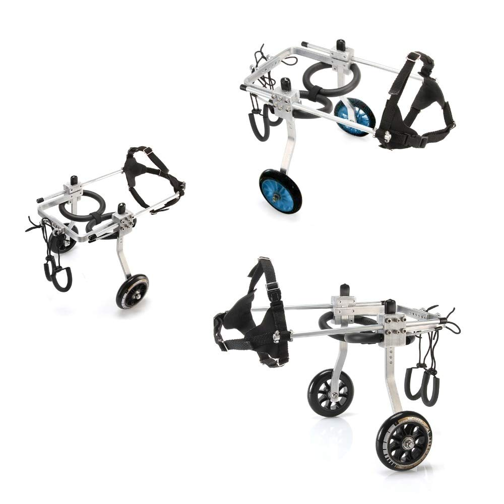 A MT Products 2-Wheel Large Size Light Aluminum Alloy Pet Dog Wheelchair for Handicapped Hind Legs L Size (a)