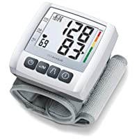 innoHaus Wrist Blood Pressure Monitor, Fully Automatic Accurate Readings, Adjustable Wrist Cuff, Clear Display, Irregular Heartbeat Detection, 60 Memory Spaces, Batteries Incl, ABC30, Grey