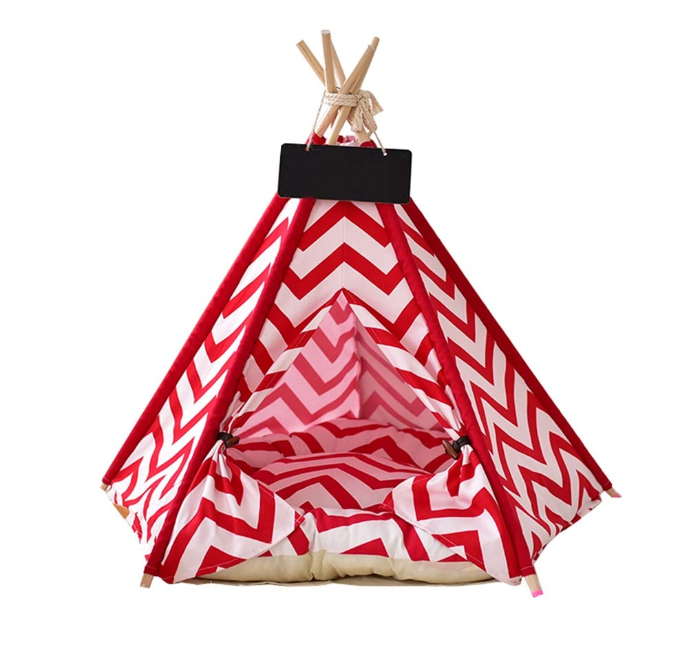 4 (no mat) M 4 (no mat) M Ryan Dog Tepee, Removable And Washable Dog Bed Pet Teepee Tent House For Cat Dog Pet Nest (color   4 (no mat), Size   M)