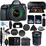 Canon EOS 6D Mark II DSLR Camera with 24-105mm f/3.5-5.6 Lens International Version (No Warranty) + Epson SureColor P800 Inkjet Printer + 16GB & 32GB SDHC Class 10 Memory Card + Carrying Case Bundle