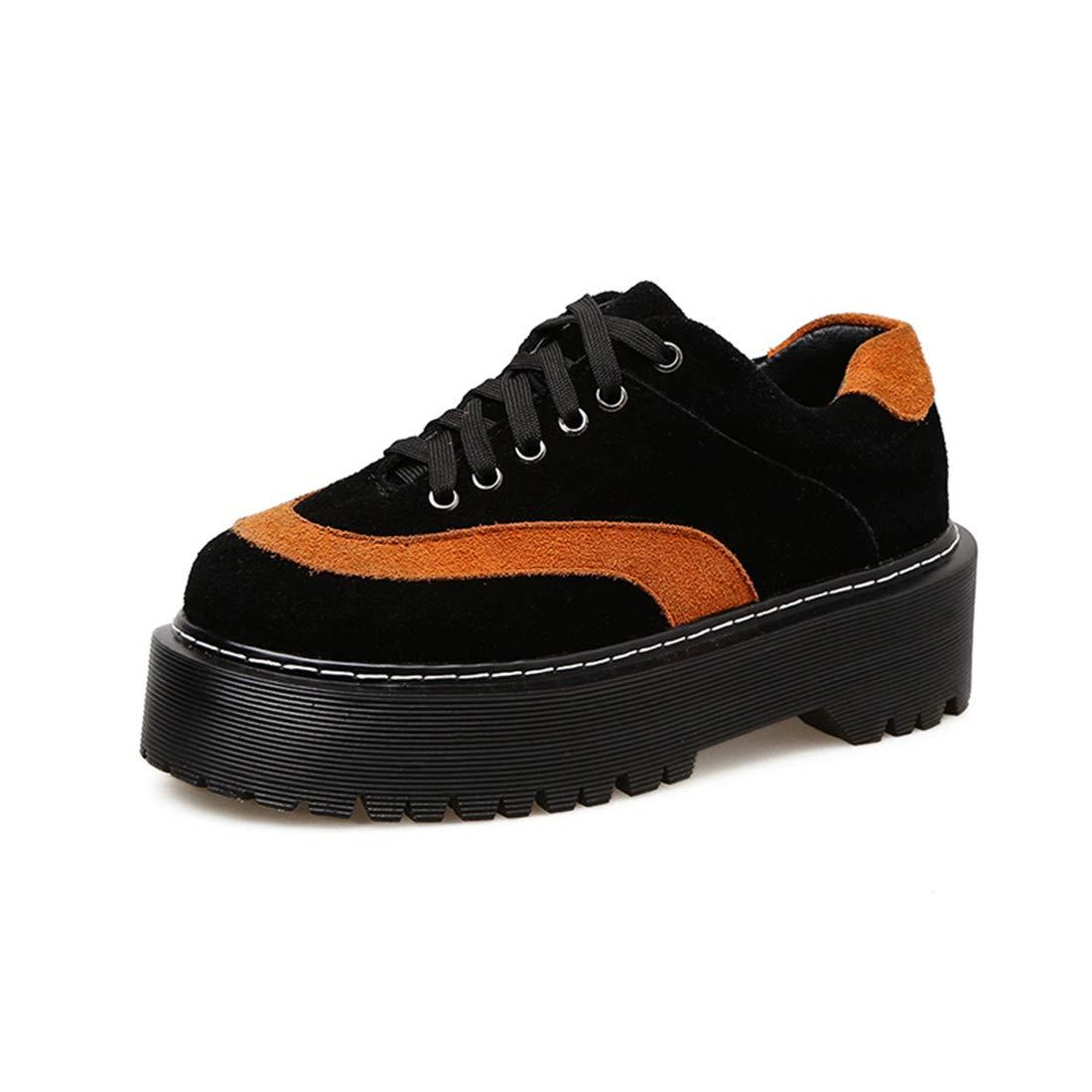 DANDANJIE Damenschuhe Wildleder Fallen Comfort Oxfords Oxfords Comfort Keile Ferse Runde Zehenspitzen Schuhe d868b4