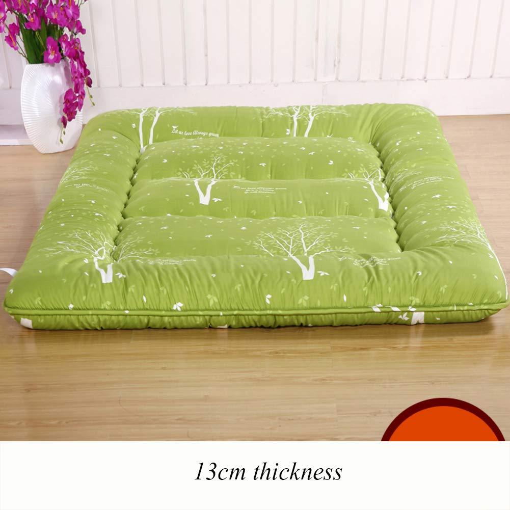 G 150x200cm(59x79inch) Thicken Floor Futon Mattress mat, Ergonomics Foldable Sleeping Tatami Breathable Japanese Bed roll for Student Dorm Living Room-B 90x200cm(35x79inch)