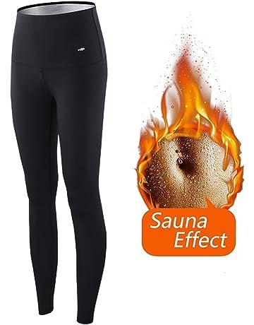 LOFFU Pantalones para Adelgazar,Pantalones Deportivos Mujer, Pantalón de Sudoración Adelgazar, Leggings Push