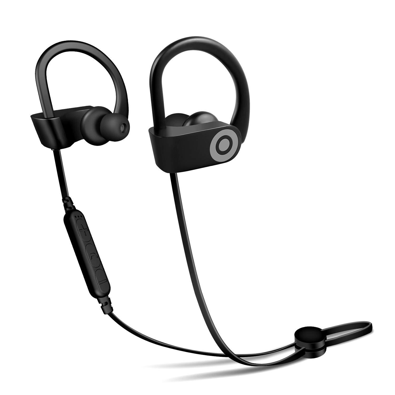 Bluetoothヘッドセット 18時間再生 超軽量イヤホン ノイズキャンセリングマイク ワイヤレスイヤホン すべてのiOSとAndroidシステムに対応   B07R6BJ46W
