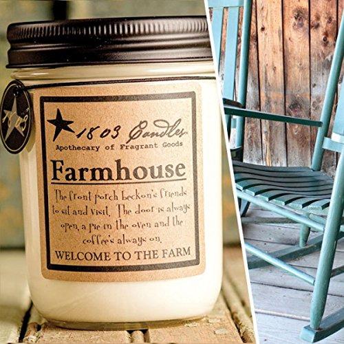 1803 Candles - 14 oz. Jar Soy Candles - (Farmhouse)