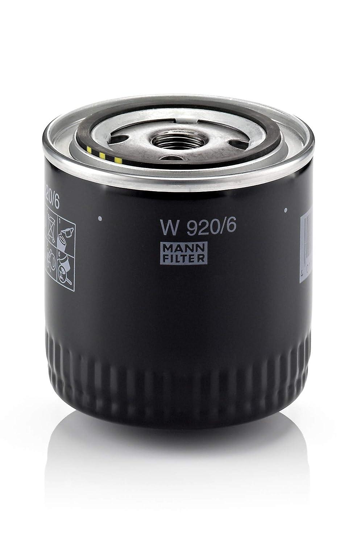 MANN-FILTER Original Filtro de Aceite W 920//6 Para autom/óviles y veh/ículos de utilidad