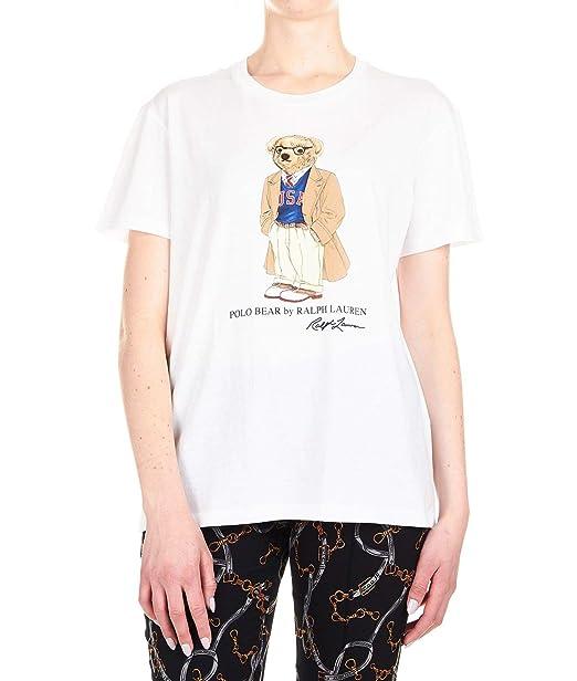 Ralph Lauren Luxury Fashion Mujer 211752373002 Blanco T-Shirt ...