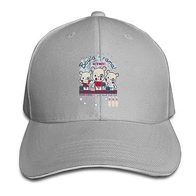 SakanpoThree Teddy Bears. Cap Unisex Low Profile Cotton Hat Baseball Caps  Ash 85a4773806a