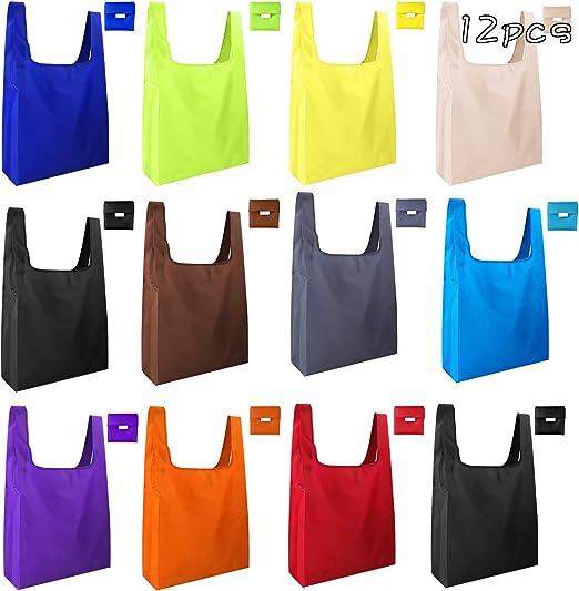 Amazon.com: KUUQA 12 bolsas de compras reutilizables ...