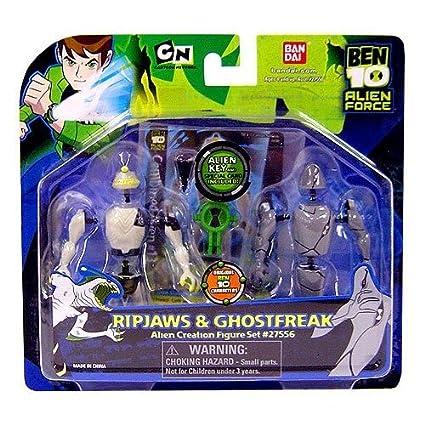 Ben 10 Ten Alien Creation Chamber Mini Figure 2 Pack Ripjaws And Ghostfreak