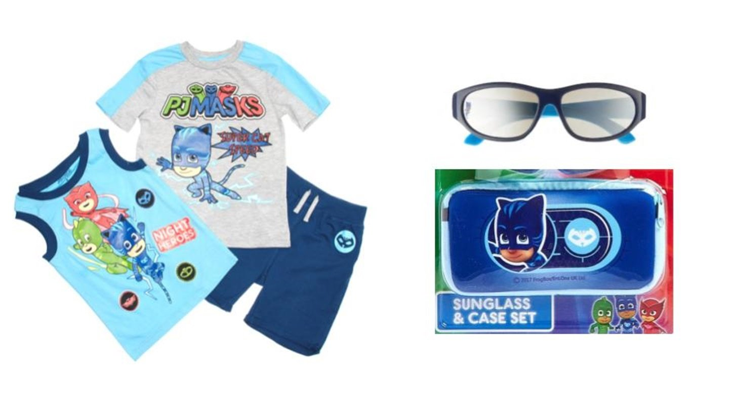 Custom Bundled Products PJMasks Boys Shorts Set Plus 100% UV Protection Sunglasses + Case Size 4 by Custom Bundled Products