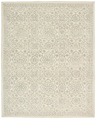 Stone & Beam Contemporary Doily Wool Rug, 5' x 8', - Wool Stone