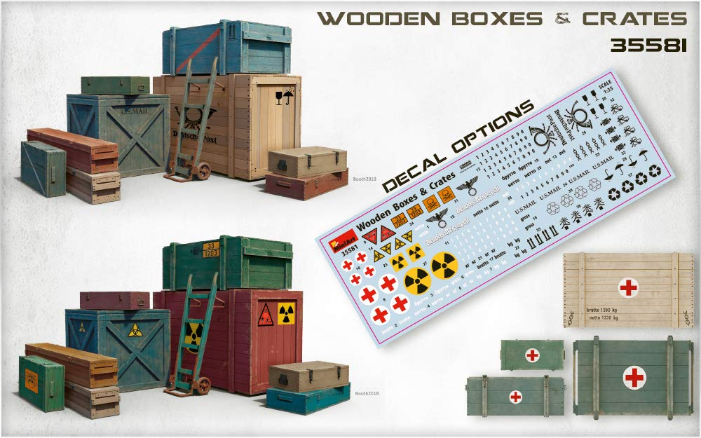 MiniArt 35581 Wooden Boxes & CRATES 20TH Century Plastic Models KIT 1/35 Scale by MiniArt (Image #3)
