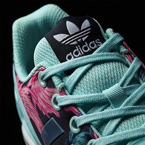 adidas Unisex-Kinder ZX Flux J Fitnessschuhe, Bedruckt Rosa