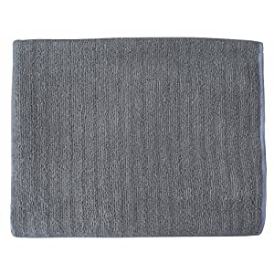 Gryeer Bamboo and Microfiber Kitchen Towels - Super Absorbent, Large and Thick Dish Towels (4 pack, 20x30 Inch) - One Side Ribbed One Side Smooth Tea Towels - Gray