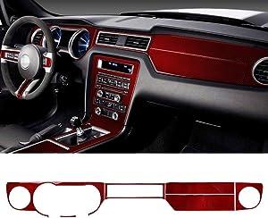 GZXinWei Red Carbon Fiber Car Stickers Dashboard Instrument Panel Trim Cover Sticker