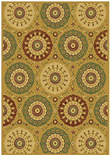 Silk Luxury Modern Rug 5x8 Gold Dining Room Rugs Floor Carpet Gold Beige 5x7 Rug Living Room Carpet Bedroom Rugs (Medium 5'x8') price
