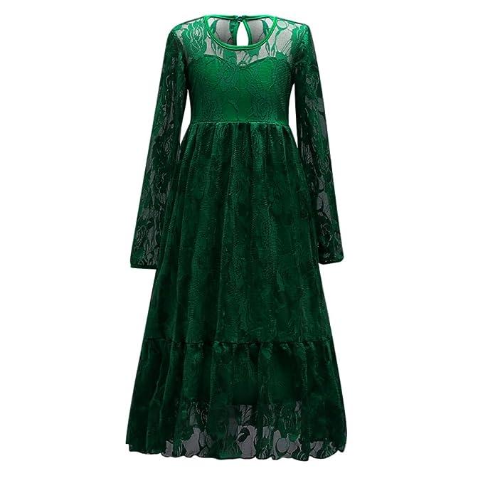 ... Vestido de Encaje de Manga Larga de la Muchacha del Otoño del Invierno Vestido de Fiesta Floral del Vestido de Fiesta de la Boda de Las Batas: ...