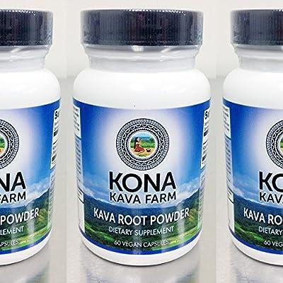 KONA KAVA Kava Extract Root Only Premium Capsules (60)