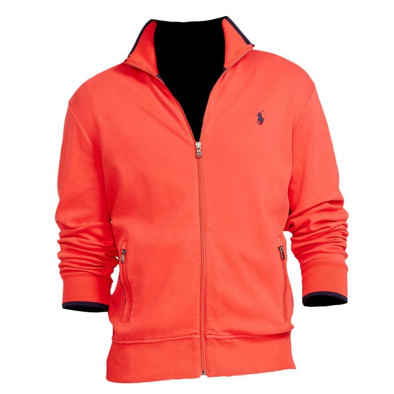 Polo Ralph Lauren Men's Full-Zip Track Jacket, S, African Red